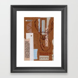 We are not the kids we used to be Framed Art Print