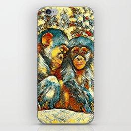 AnimalArt_Chimpanzee_20170601_byJAMColorsSpecial iPhone Skin