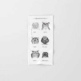 Caffeinated Owls Hand & Bath Towel