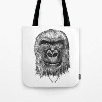 gorilla Tote Bags featuring Gorilla  by Кaterina Кalinich