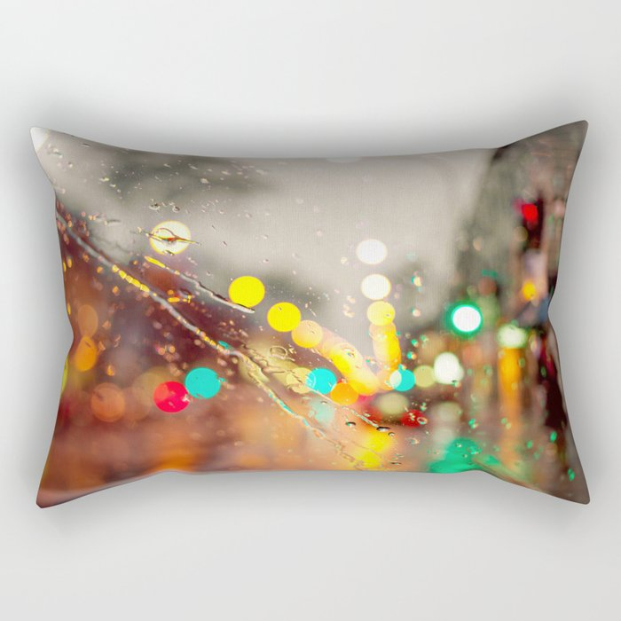 Spring Rain  Rectangular Pillow