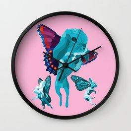 Butterbunnies Wall Clock