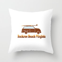 Buckroe Beach - Virginia. Throw Pillow