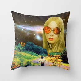 Distant Meeting Throw Pillow