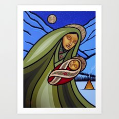 Mother and Child (Mountains) Art Print