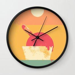 Summer Gelato Wall Clock