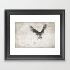 trembling the birch Framed Art Print