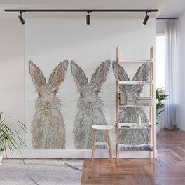 Triple Bunnies Wall Mural