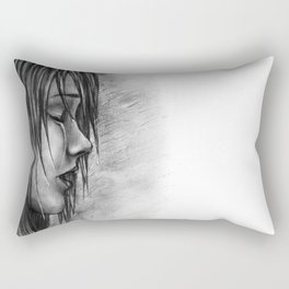 Never Let Them See You Cry Rectangular Pillow