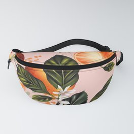 Citrus paradise. Tropical pattern with oranges Fanny Pack