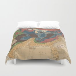 Vintage United States Geological Map (1872) Duvet Cover