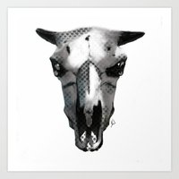 animal skull Art Prints featuring Animal Skull by K_Leigh_J