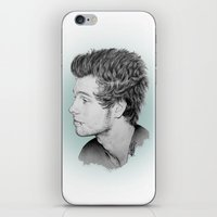 luke hemmings iPhone & iPod Skins featuring Luke by Drawpassionn