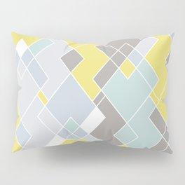 Yellow & Gray Geometric Pattern Pillow Sham