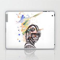 Luke Skywalker From Star Wars in Rebel Flight Helmet  Laptop & iPad Skin