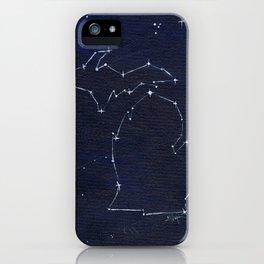 Mitten State Constellation iPhone Case