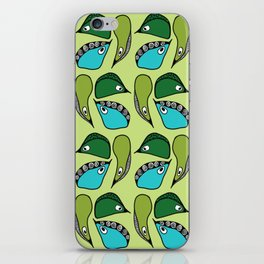 Green Dive-Plongeon vers- birds 2 iPhone Skin