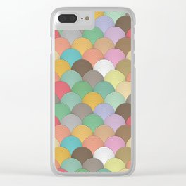 Colourful Wave Pattern Clear iPhone Case