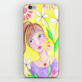 Blue Eyed Beauty iPhone Skin