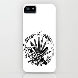 Stop And Ink About It iPhone Case