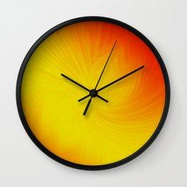 Yellow digital flower Wall Clock