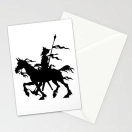 Don Quixote of La Mancha and Rocinante | Don Quixote Silhouette | Black and White | Stationery Cards