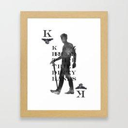 Kaz Brekker Playing Card Framed Art Print