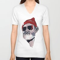 zissou V-neck T-shirts featuring Team Zissou by PAFF