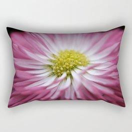 pink bellis on black -1- Rectangular Pillow