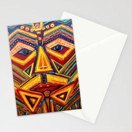 Warrior mask Stationery Cards