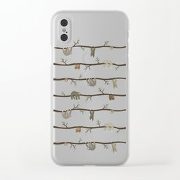 sloths Clear iPhone Case