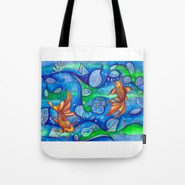 koi fish in the lake Tote Bag