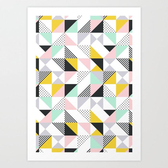 Pastel Geo Art Print