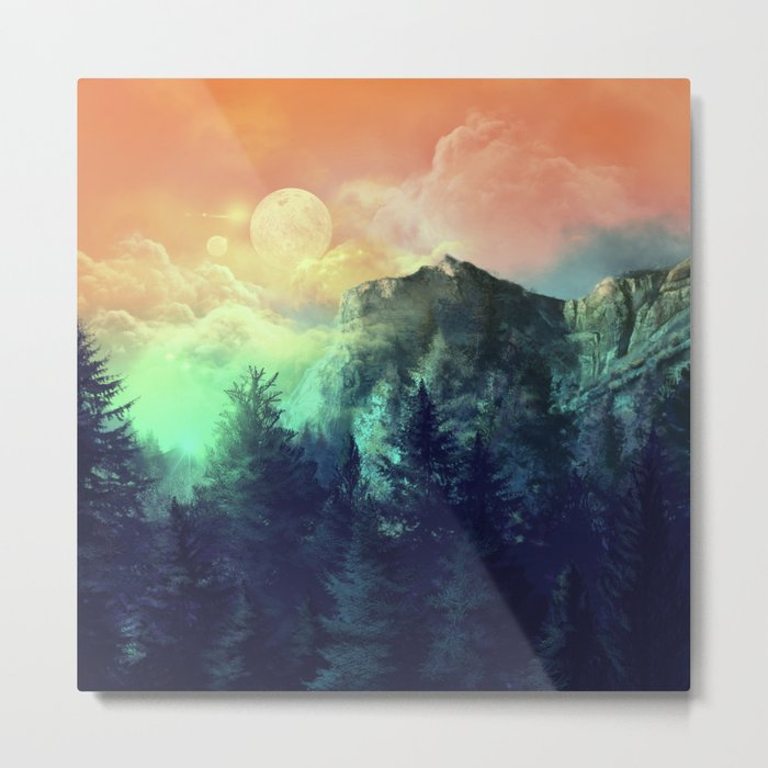sunset forest 1 Metal Print