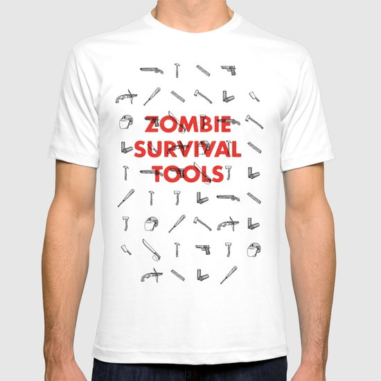 Zombie Survival Tools - Pattern 'o tools T-shirt