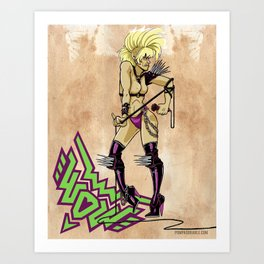 A tribute to Wendy O. Williams Art Print