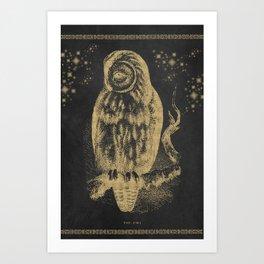 The golden owl Art Print