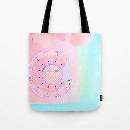 Brooklyn 718 Vintage Pink Phone - Neon Pink Rotary Telephone Tote Bag