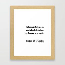 9     | Simone De Beauvoir Quotes | 190605 Framed Art Print