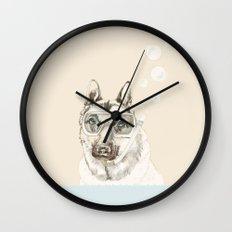 Diver Dog Wall Clock