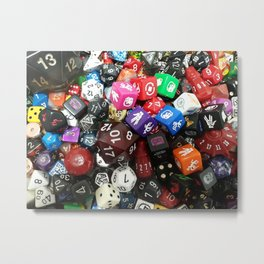 Dungeons and Dragons Dice Metal Print