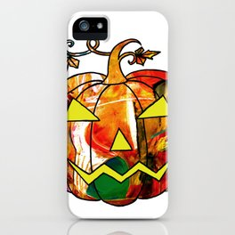 Halloween pumpkin style iPhone Case