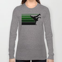 Break lines green Long Sleeve T-shirt