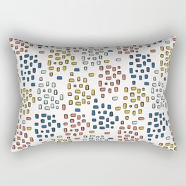 Rectangle Square Doodle Vector Pattern Seamless Primary Rectangular Pillow