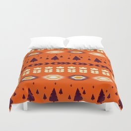 Holiday pattern with Christmas trees Duvet Cover