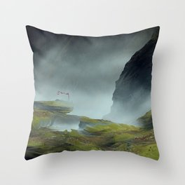 Red Flag Throw Pillow