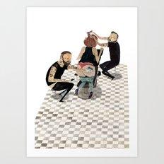 ink & snips Art Print