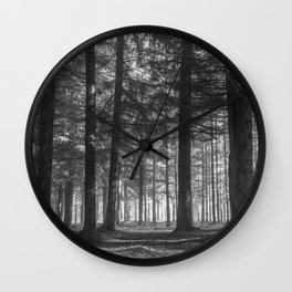 Black and white woods - North Kessock, Highlands, Scotland Wall Clock
