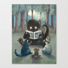 Reading Circle (option) Canvas Print