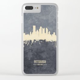 Pittsburgh Pennsylvania Skyline Clear iPhone Case